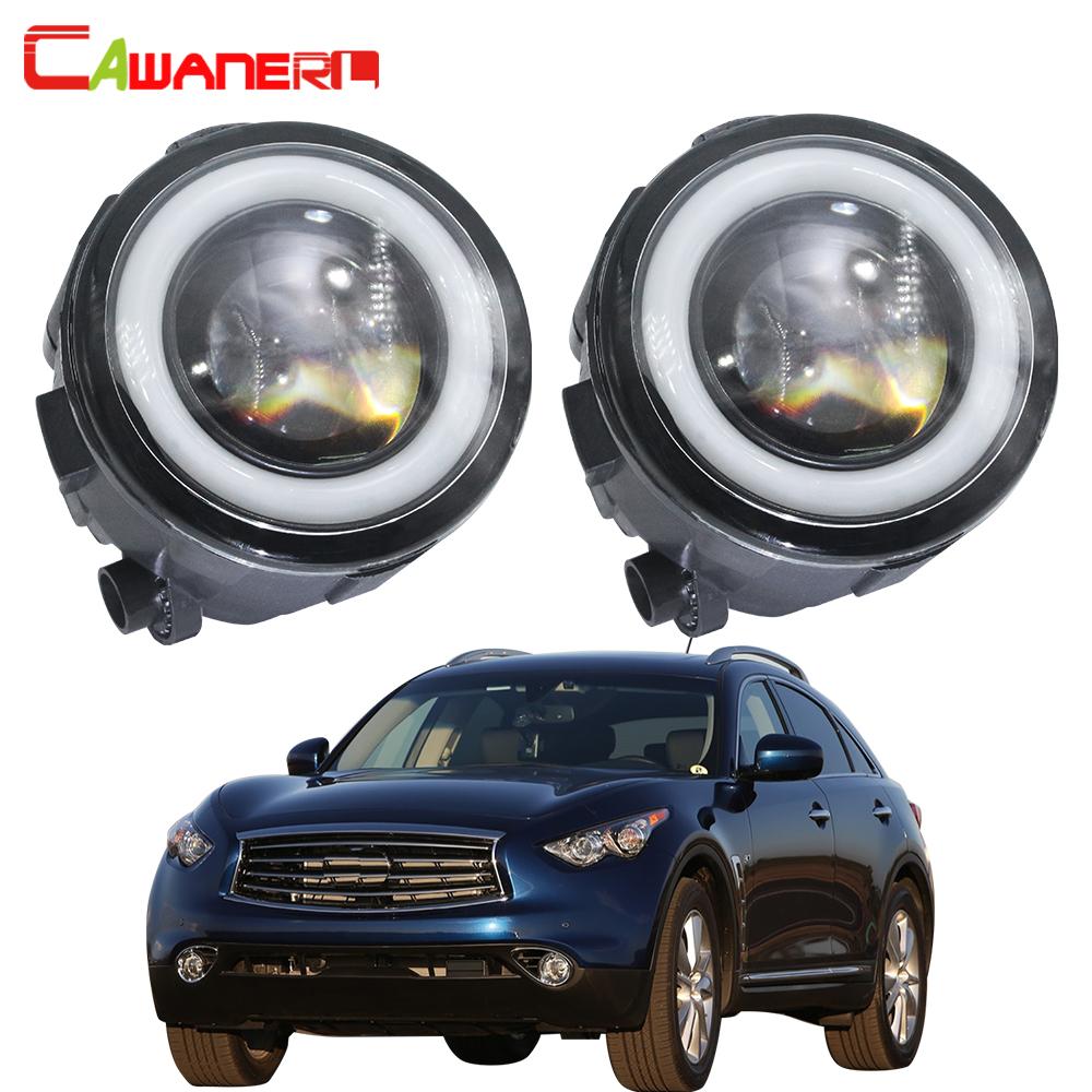 30W High Power LED Fog Light Lamps w// LED NO Halo Rings For Nissan Infiniti