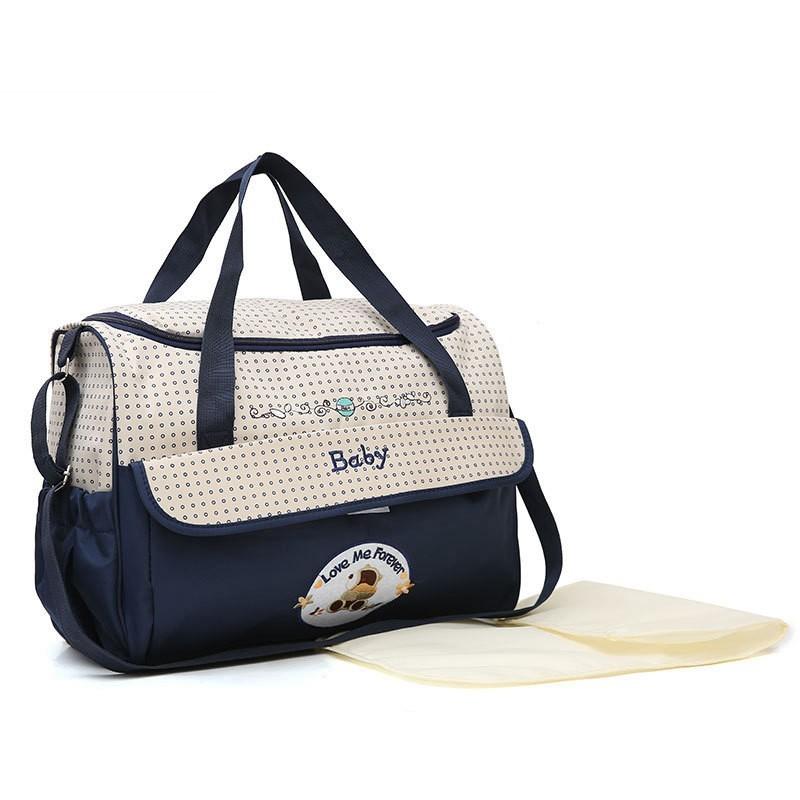 CROAL CHERIE 381830cm5pcs Baby Diaper Bag Sets changing Nappy Bag For Mom Multifunction Stroller Tote Bag Organizer (14)
