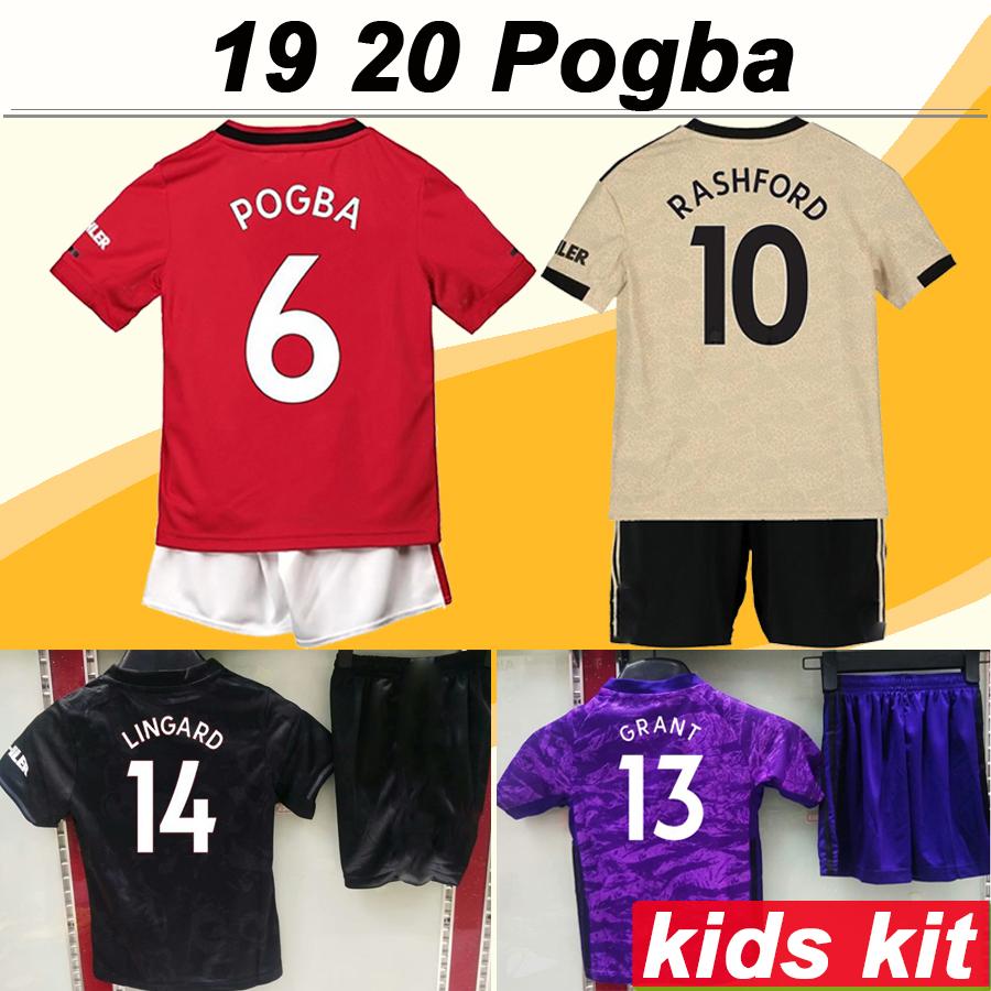 19//20 Heim Home Fußball Trikot für 3-14Y Jungen Kinder Sports Kit+Socken RONALDO