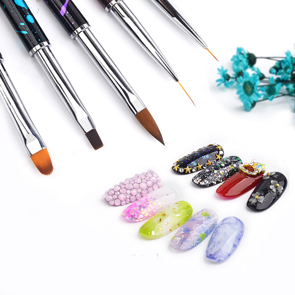 Nail Tools Nail Brushes Hot! Nail Art Dotting Manicure Painting Drawing Polish Brush Pen Tool Nylon Drop shipping July24