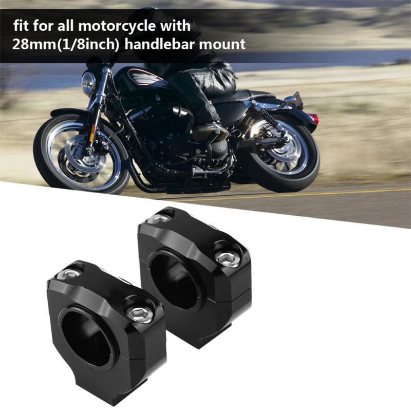 Paar Motorrad 28MM CNC Motorrad Lenker Riser Mount Clamp Adapter 22mm Austausch 28mm Blau