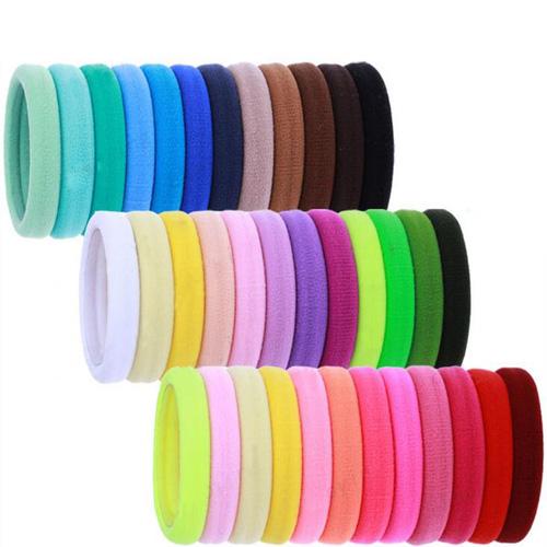 20pcs Mixed Color 5 mm Vague Cheveux Liens Corde élastique en Caoutchouc Bandes Ponytail Holder