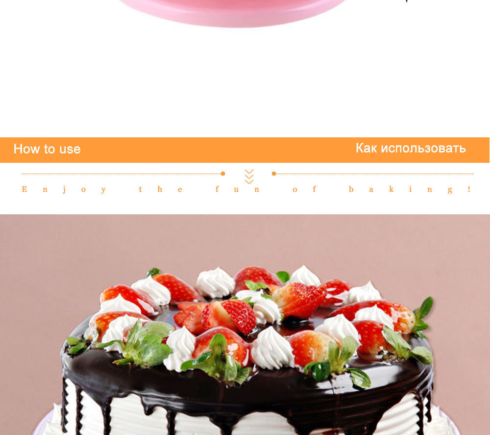 Buy Cake Decorating Turntable Get Scraper Free DIY 360 Rotating Display Turntables Round Cake Rotary Table Baking tools 132 (6)