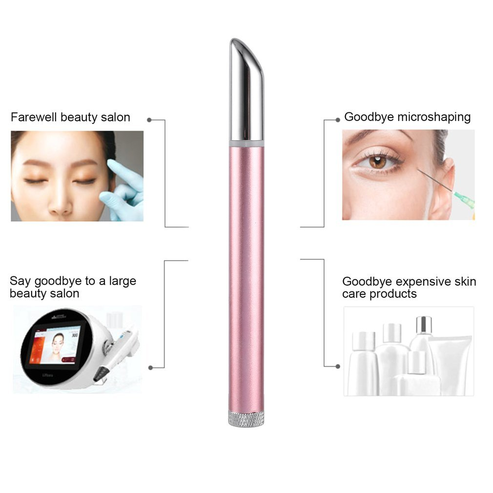 Portable Ion Eyes Instrument Cosmetic Pen Ion Beauty Eye Instrument Eye Pouch Black Rim Remover Eye Massager Hot Sale C18112601