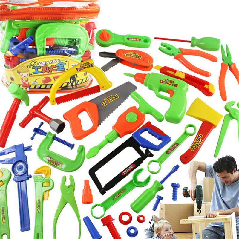 33PCS/Set Garden Tool Toys For Children Repair Tools Pretend Play Environmental Plastic Engineering Maintenance Tool Toys Gifts