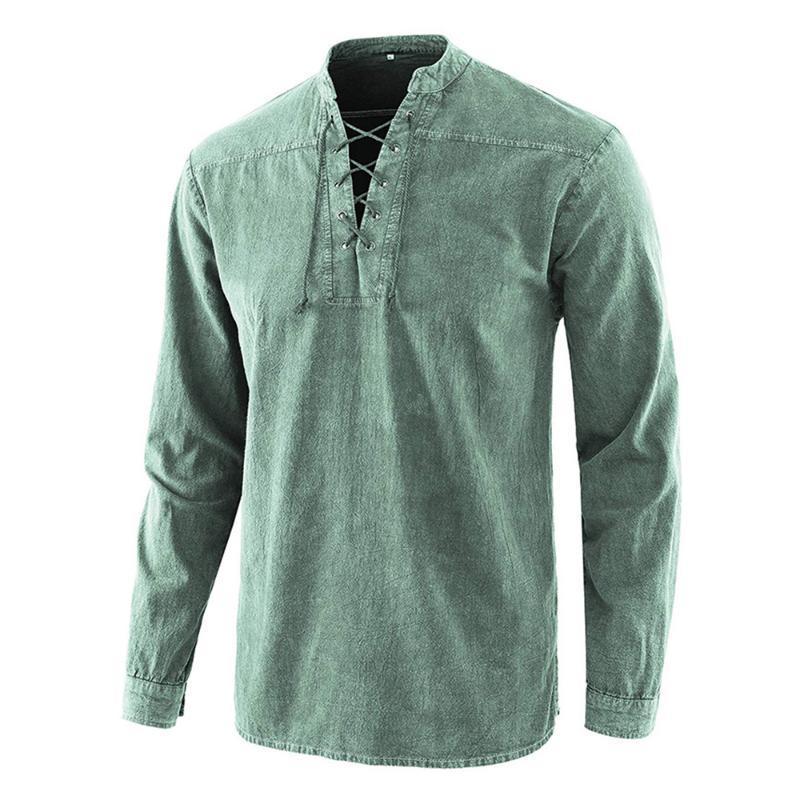 Retro Medievale Rinascimento Uomini Armor lunga Tops camicia CAVALIERE VICHINGO Festa Cosplay