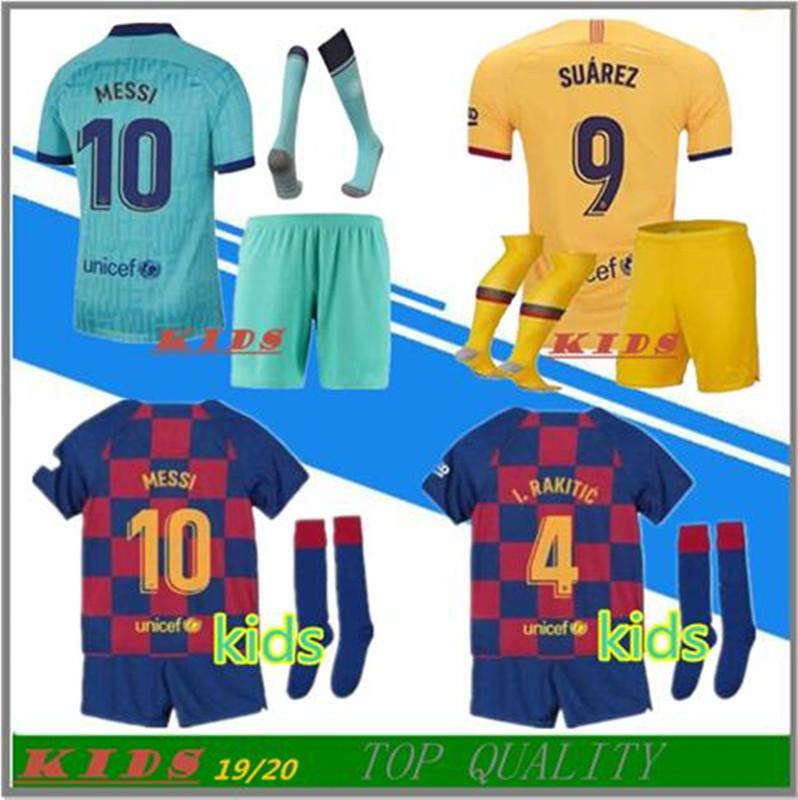 Full 90 Barcelona Messi 2019//2020 Maillot et Chaussettes pour Enfant et Enfant