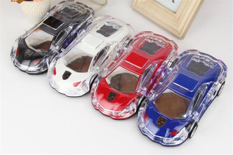 Car Model Bluetooth Speaker BT Speaker Sports Car Flashing Light Wireless BT Speaker Light Subwoofer Card Inserting