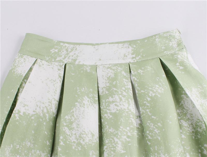 Kostlish Retro Print Flower Summer Skirts Womens High Waist Vintage Skirt Elegant A-Line Midi Women Skirt Plus Size XXL (34)