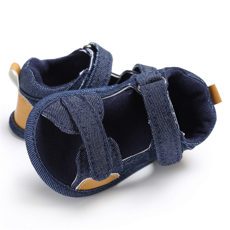 Summer Baby Shoes For Boys Girls Toddler Infant Kids Baby Boys Girls Solid Canvas Sole Crib Shoes Anti-slip Sandals Shoes M8Y11 (13)