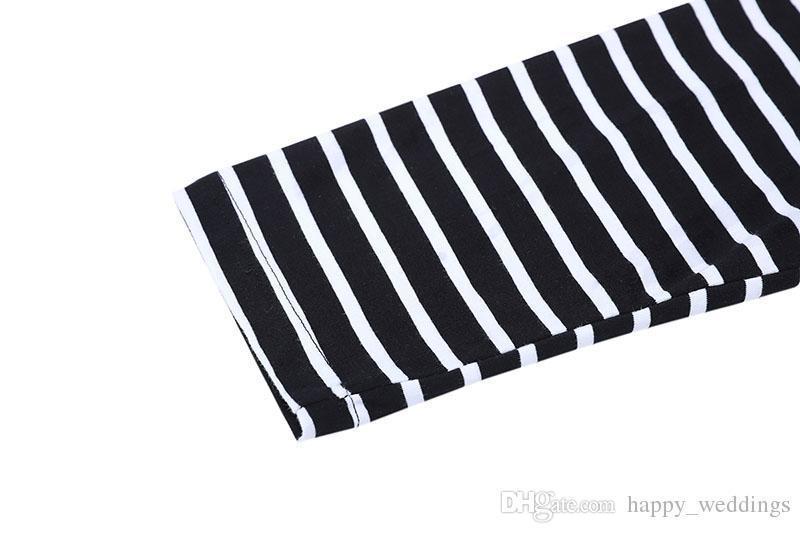 Streetwear Fear Of God T-Shirts Men Women Black White Striped Zebra FOG Tshirt Stand Collar Fear Of God Base Long Sleeve T Shirt