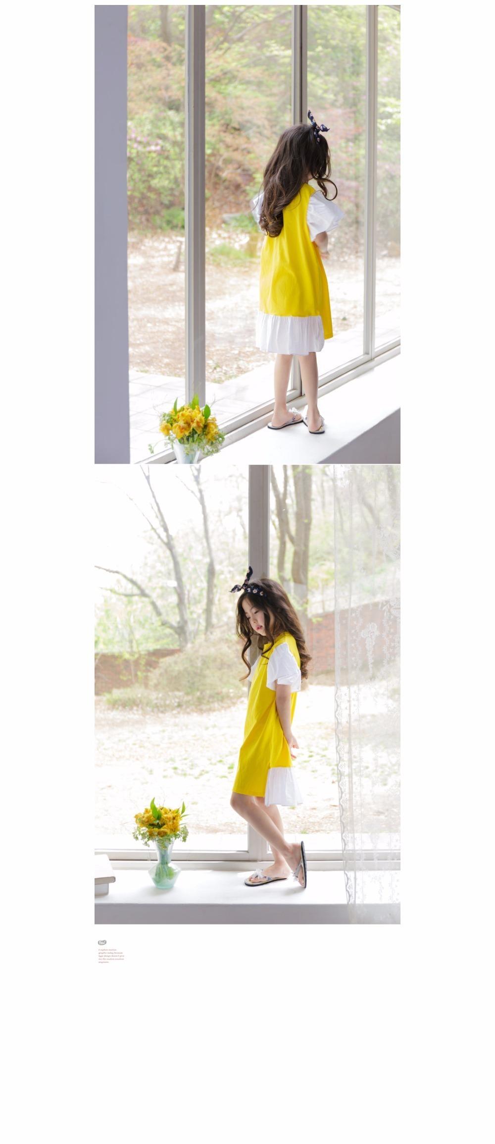 ruffles patchwork little big girl dresses cotton summer 2017 yellow knee legnth kids dresses designs Children Boutique Clothes 4 5 6 7 8 9 10 11 12 13 14 years old little big teenage girls dresses summer dress girl kids 2017 (5)
