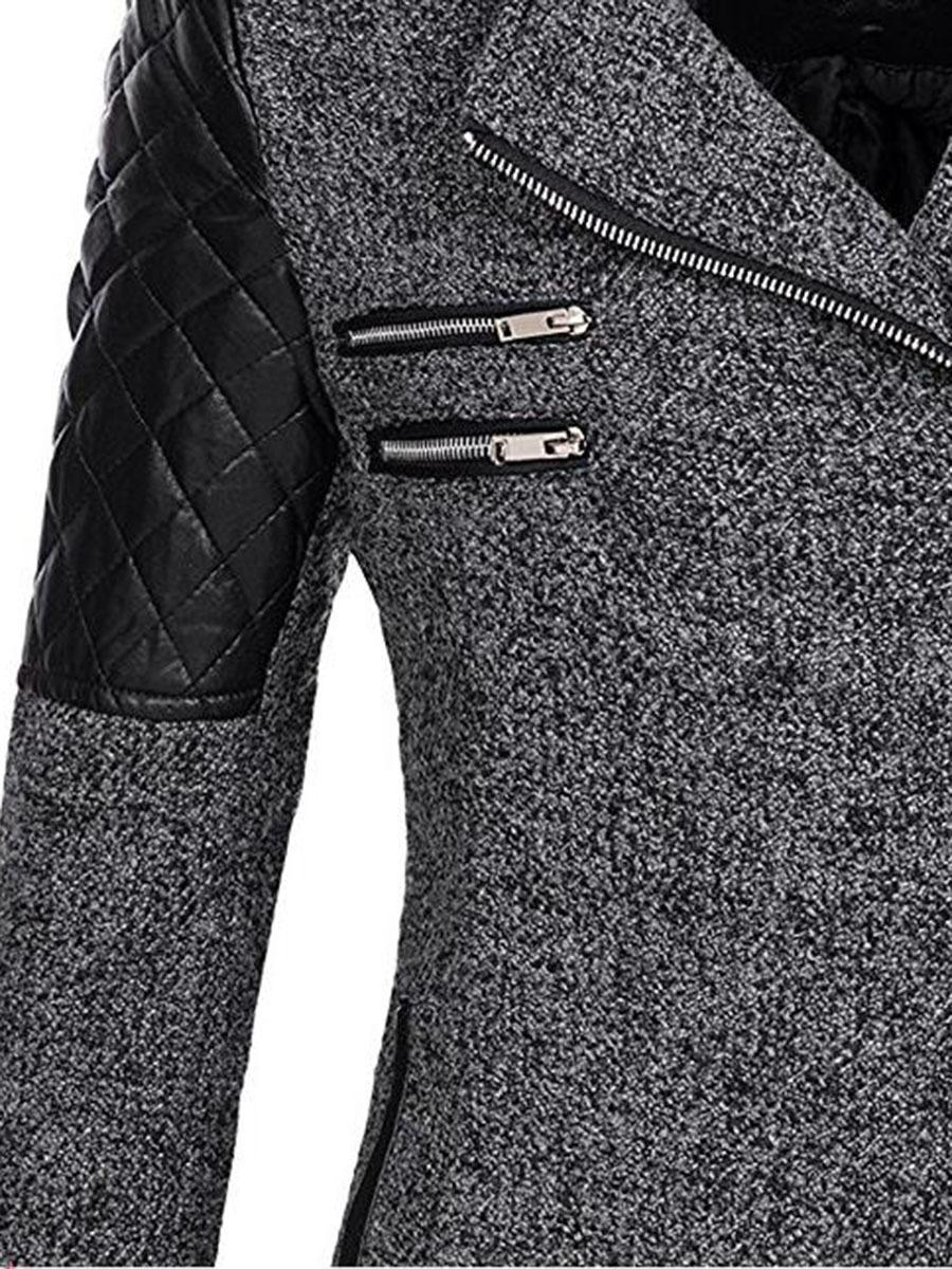 Frauen-Winter-Mantel mit Kapuze Herbst Zipper dünne Oberbekleidung Spring Fashion Patchwork-schwarze Frau Warm windundurchlässiges Zieher LY191217