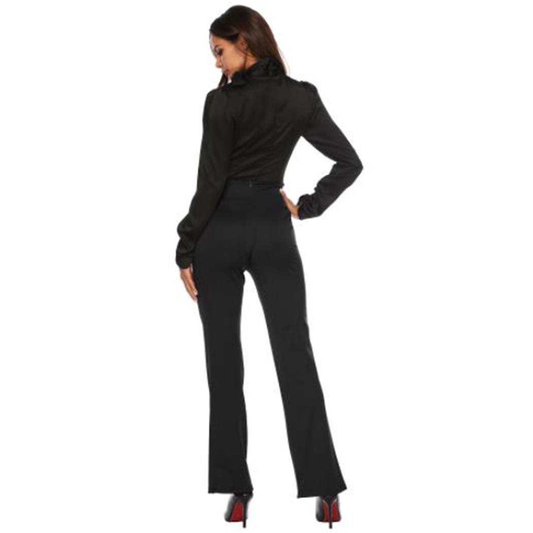 Женские брюки с высокой талией Брюки повседневные с широкими штанинами и длинными ногами Модные женские брюки с высокой талией