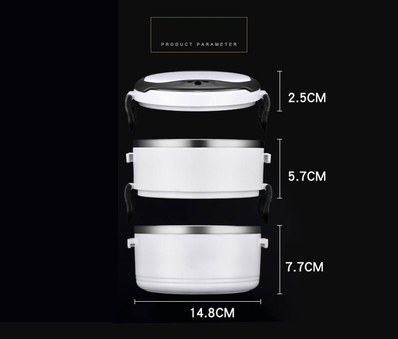 Black White Leakproof Lunch Box 304 Stainless Steel Adult Student Food Storage Container Metal Plastic Thermal Bento Box Japan Style 21