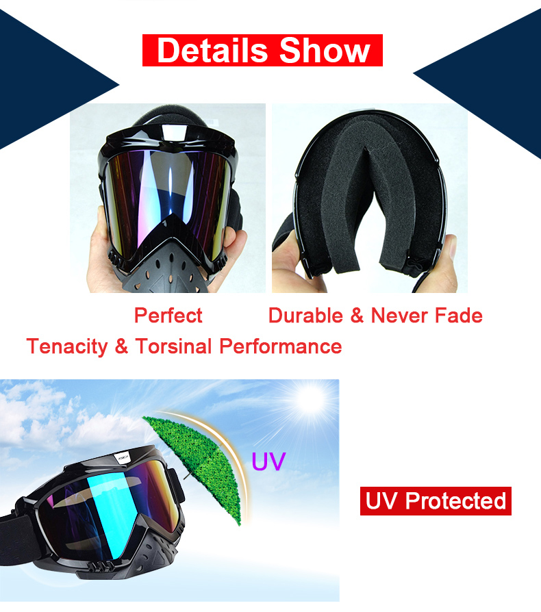 New Vcoros brand Gafas motorcycle goggles helmet glasses moto helmets glasses masque motocross goggles ski windproof eyewears (8)
