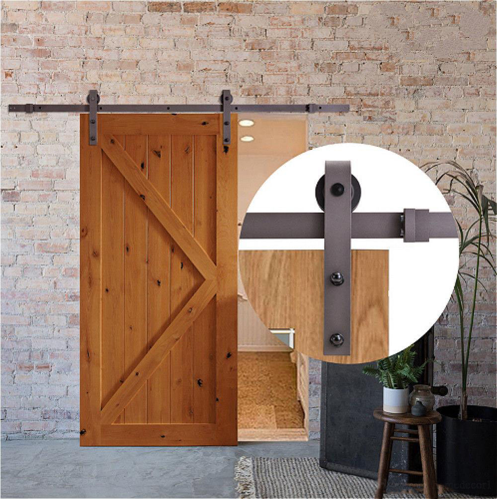 Famus American Barn Door Pulley Hardware Basic Section Single Side1.83 Meters Single Door