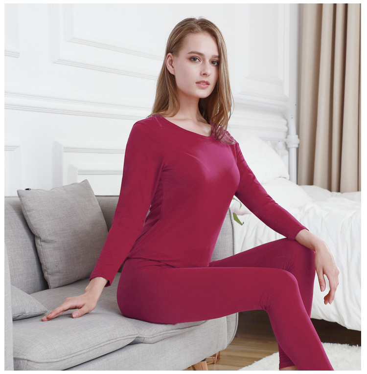 Queenral Long Johns For Male Female Warm Thermal Underwear Thermal Clothing Men Woman Winter Plus Size L - XXXL Thermal Suit 16
