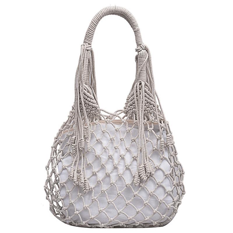 Sommer Baumwolle Strandtasche Handtasche Netzbeutel Mini Tasche