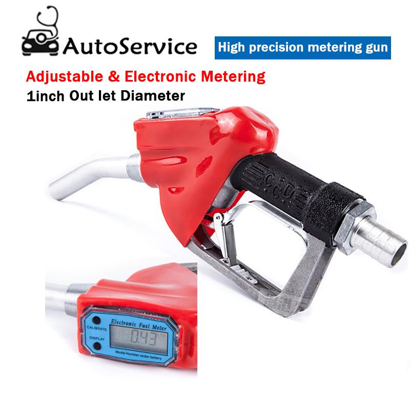 Gasolina Combustible Diesel Gasolina Aceite de administraci/ón con una pistola boquilla dispensadora con caudal/ímetro