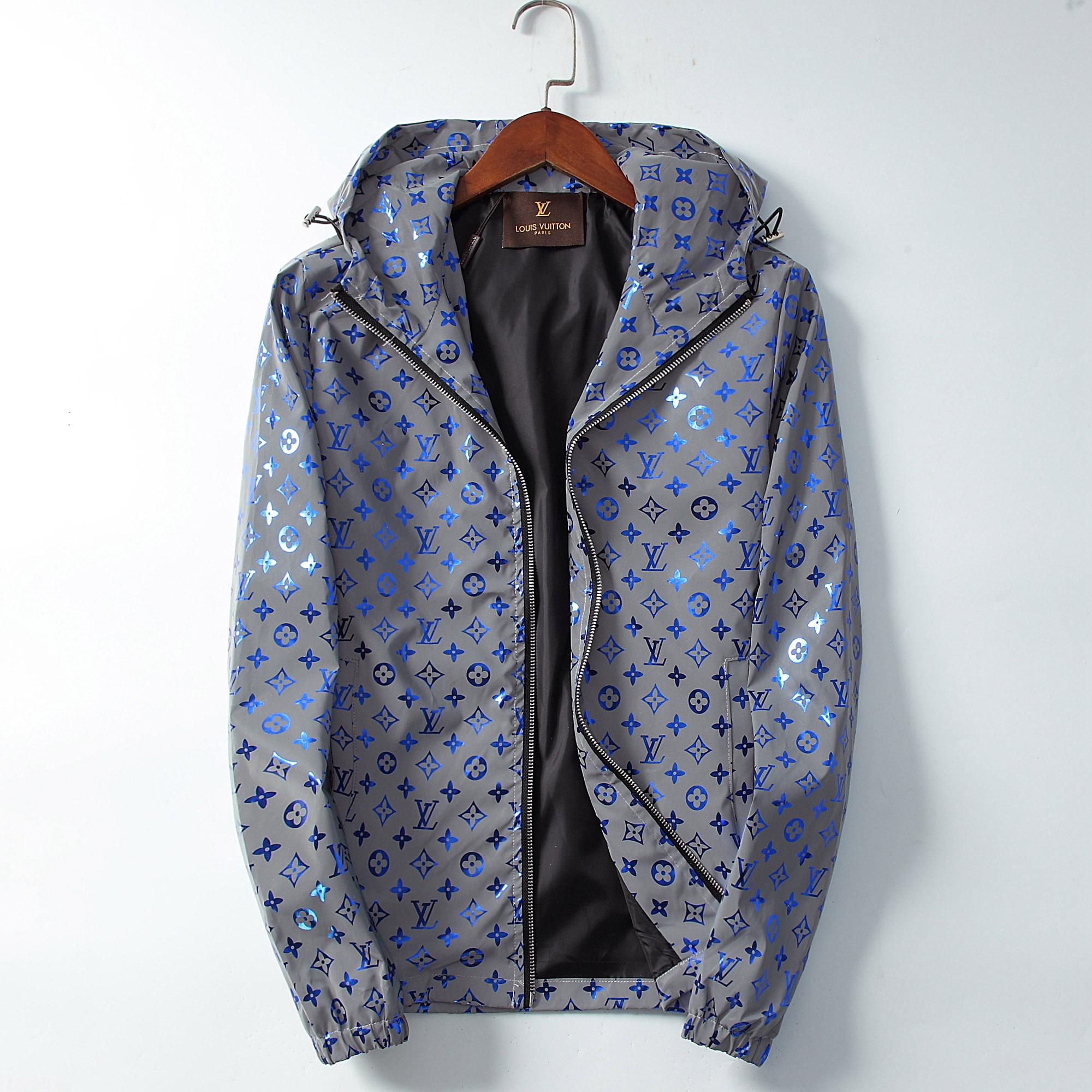 Unisex Off White Washed Denim Shirt Impression Arrow Hip-hop Jeans Jacket M-2XL