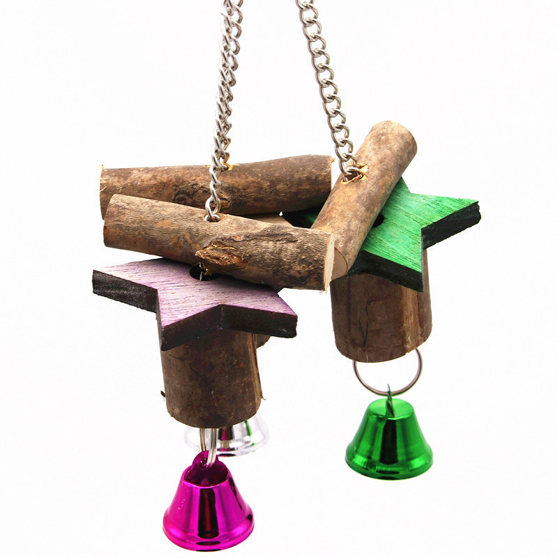 Parrot Bird Toys Log Étoile à cinq branches Parrot Gnaw Destruction Classe Toys Group Hair