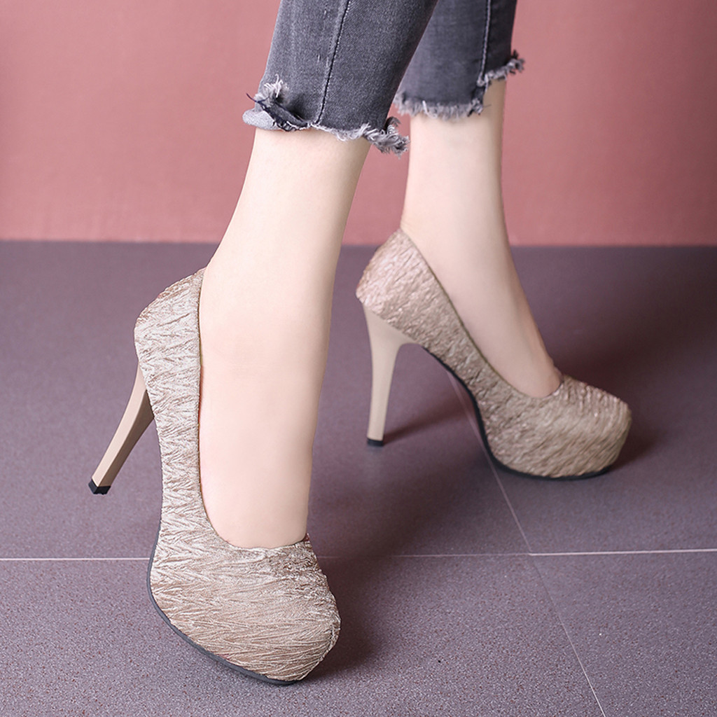 Dress Shoes Muqgew Fashion Printed High Heel For Woman Sexy One Word Buckle Boots Concise Pointed Head High Heel Single Woman