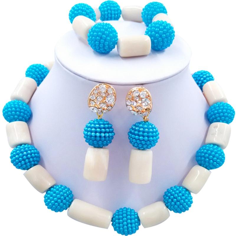Jewelery Set White and Blue