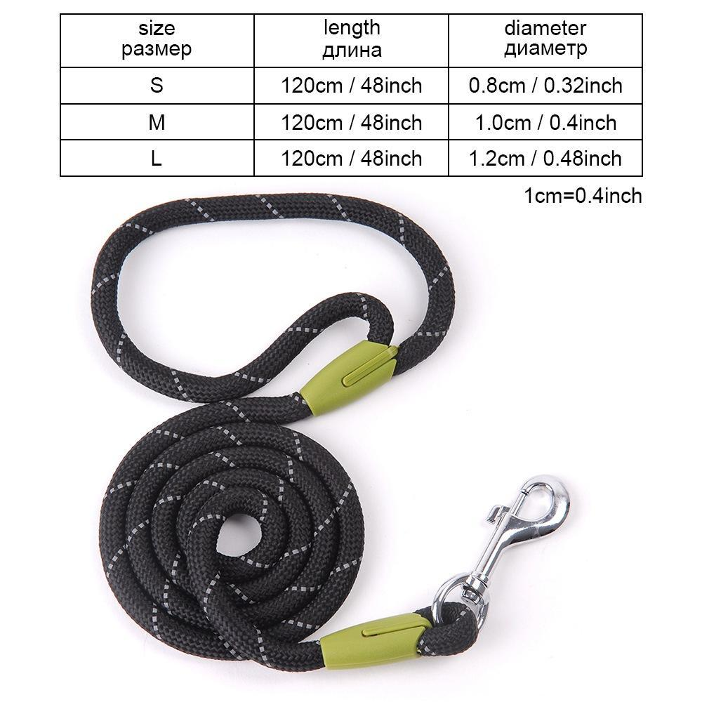 Dog Leashes For Small Large Dogs Leash Pet Products Reflective Dog-Leash Rope Dogs Lead Cat Collar Harness Nylon Running Leashes (11)