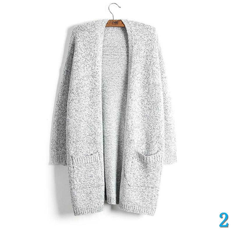Women Long Cardigans Knit Autumn Thick Sweater Oversize Jacket Coat Outdoor Chic