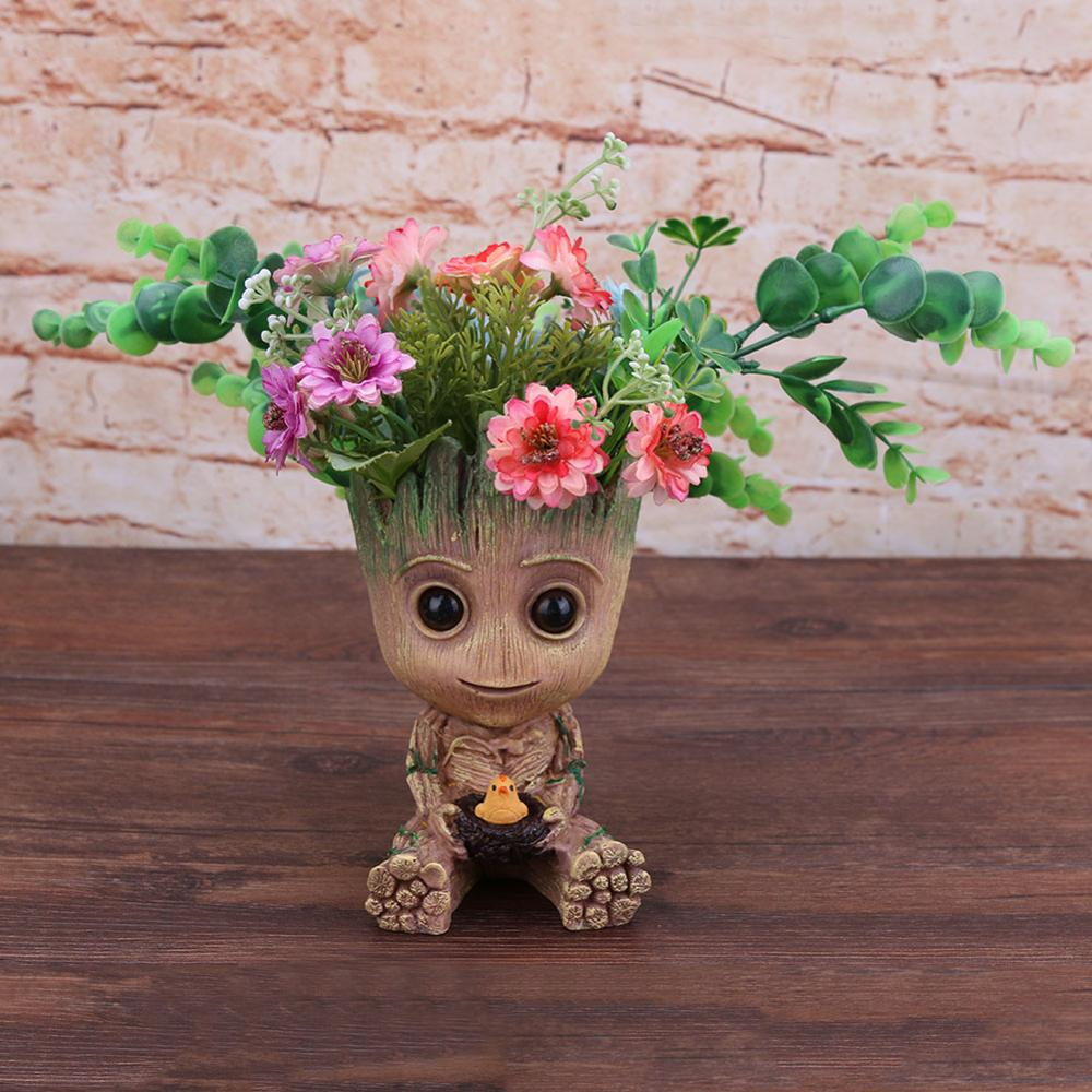 Guardians Of The Galaxy Vol.2 Groot Model Figure Plant Pen Flower Pot Toy Game