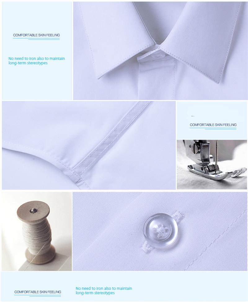 BROWON Brand New Formal Shirt Men Short Sleeve Shirt Turn Down Color Slim Fit Casual Shirt Plus Size M-5XL Camisa Masculina06