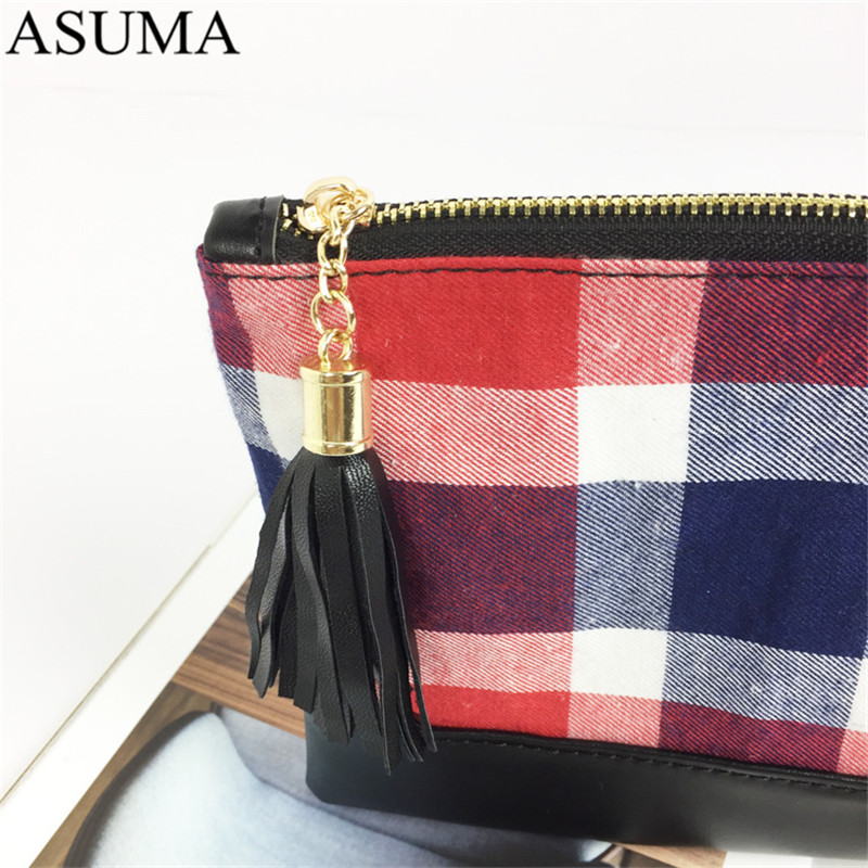 plaid canvas clutch (5)