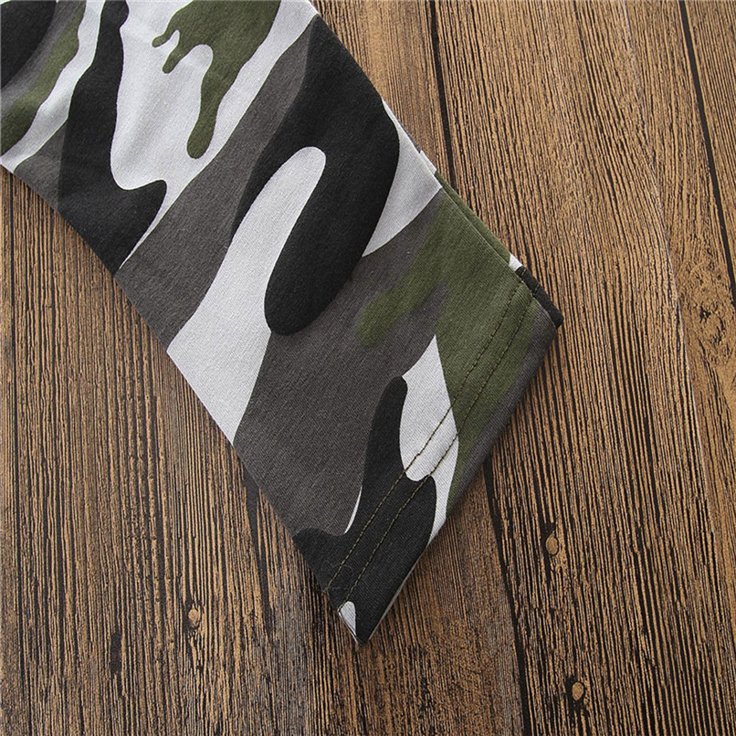 2PCS Baby Boys Sets Toddler Kids Baby Boys Short Sleeve Letter T-shirt Tops+Camouflage Pants Set Baby Boy Clothes M8Y18 (4)