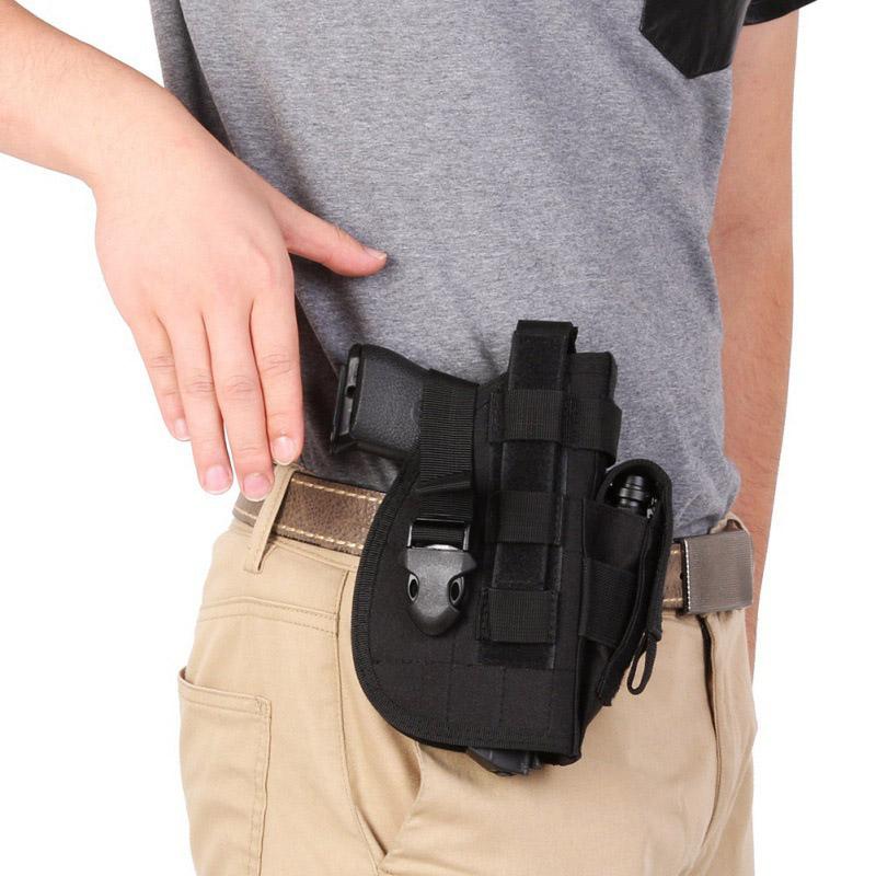 PISTOLET HOLSTER dissimulée Carry étuis ceinture métal CLIP HOLSTER AIRSOFT GUN SAC Hun