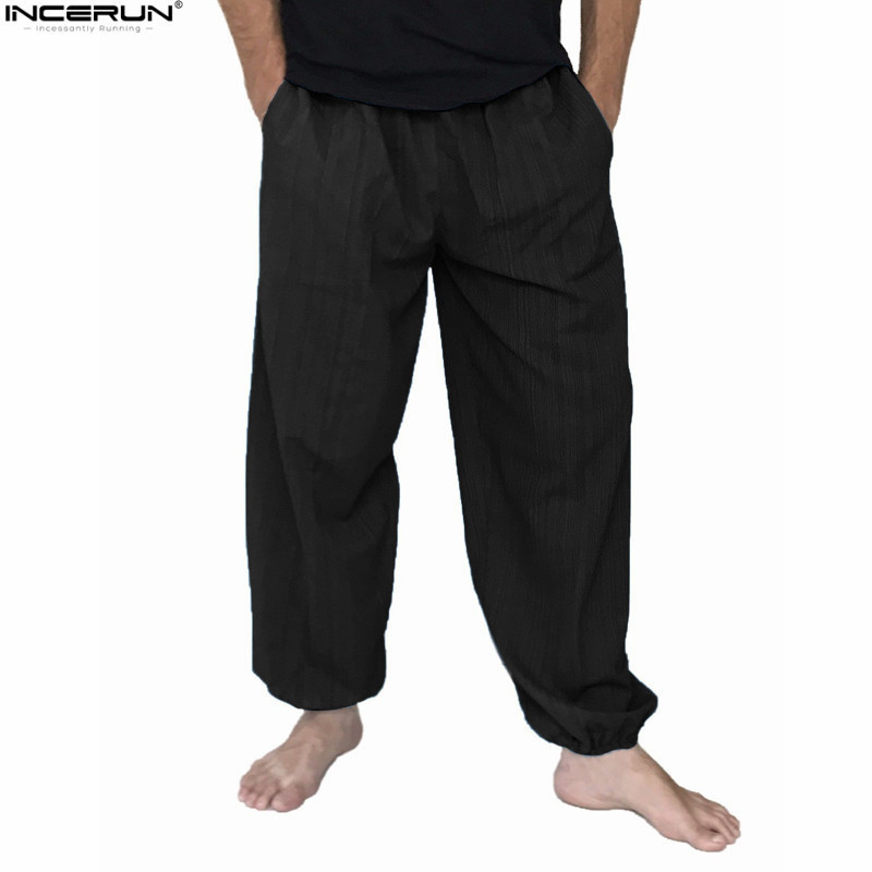 Plus Size 5xl Men's Cotton Loose Harem Pants Solid Casual Baggy Trousers Men Nepal/indian Pants Men Wide Leg Hip Hop Pants New C19041201