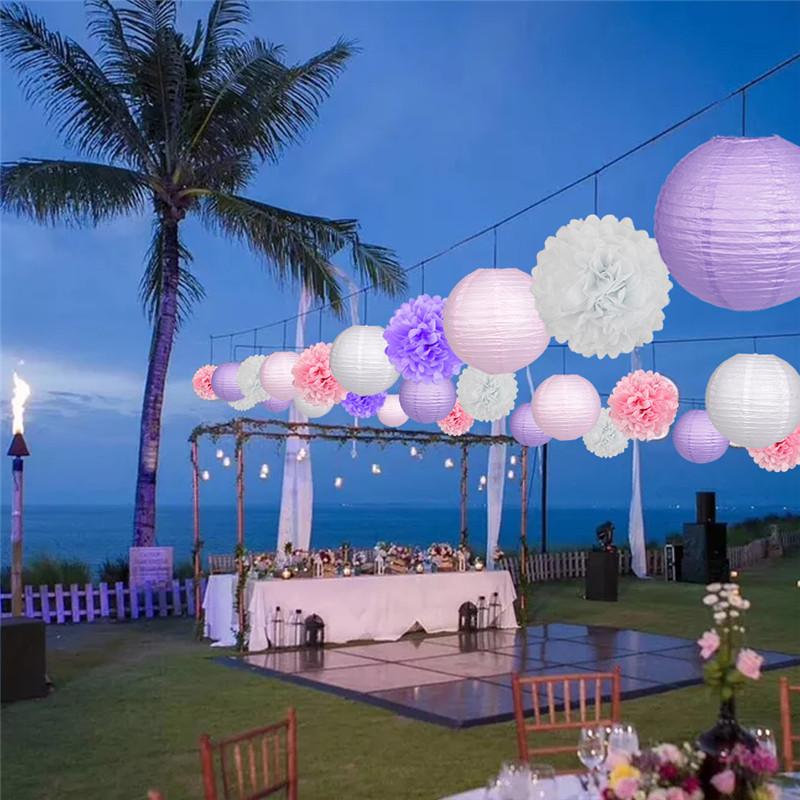 15pcs Pink party decoration 7