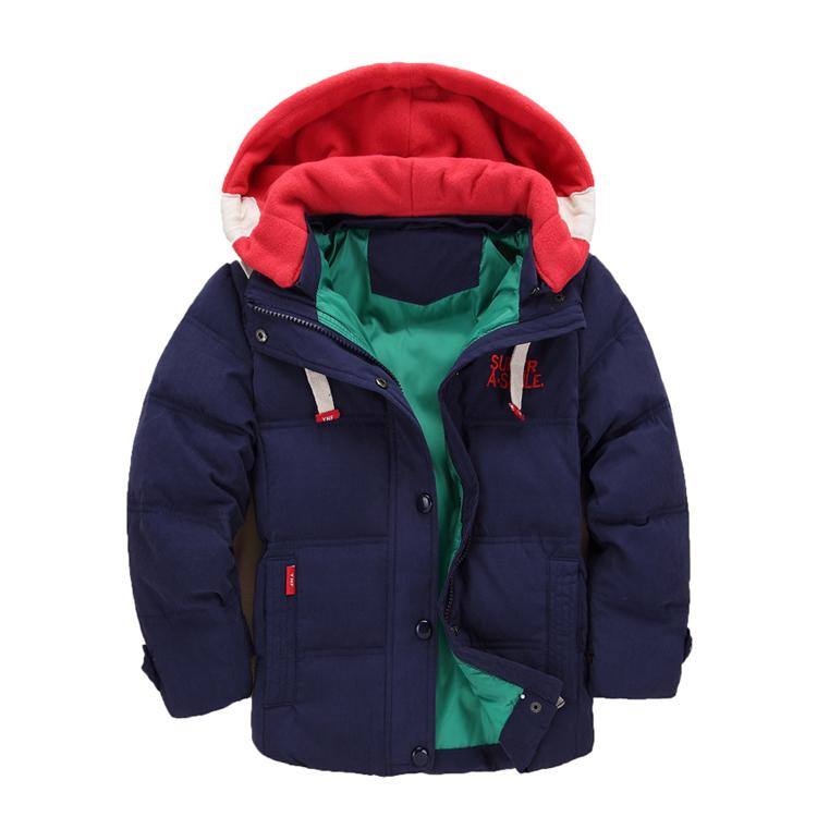 Kinder Starke Winterjacken Für Mädchen Jungen Kleidung 4-12 T Parka Warme Mäntel Overalls Mit Kapuze Baby Kinder Oberbekleidung