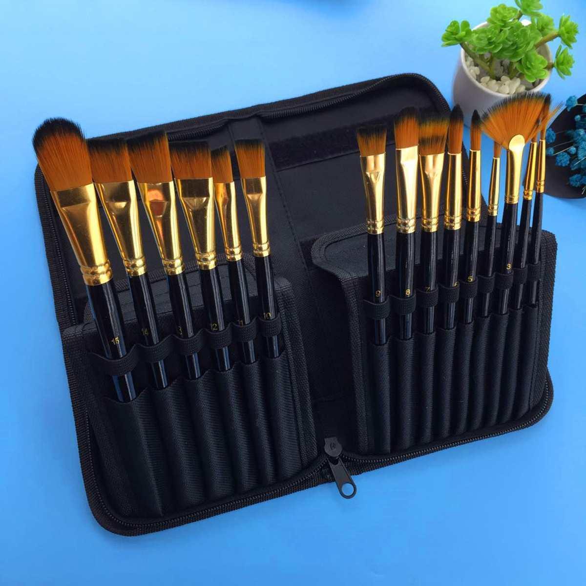 Paint Brushes Set Nylon Hair Painting Brush Variety Style Short Rod Oil Acrylic Brush Watercolor Pen Art Supplies Y19061804