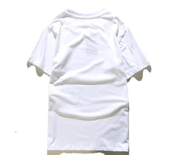 45 p Yeni tasarım sıcak Satış Marka Giyim Erkekler Baskı Pamuk Gömlek T-shirt erkek Kadın T-shirt Hip Hop O-Boyun kısa kollu yüksek kalite