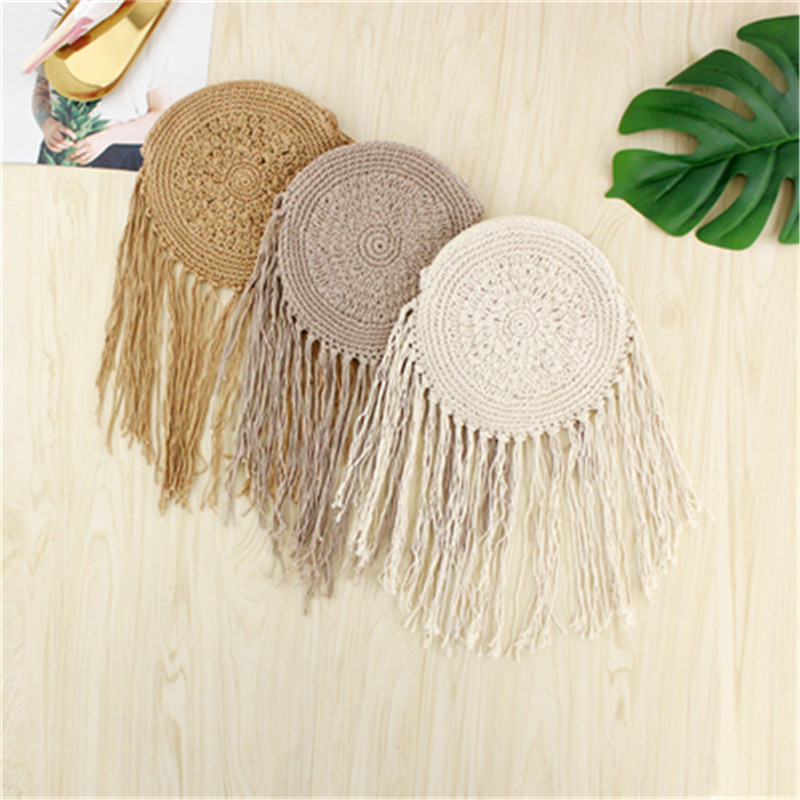 AEQUEEN Round Straw Bag Women Wicker Rattan Bag Female Summer Woven Cross body Bags Lady Handmade Woven Handbag Bolsos Mujor Y190612