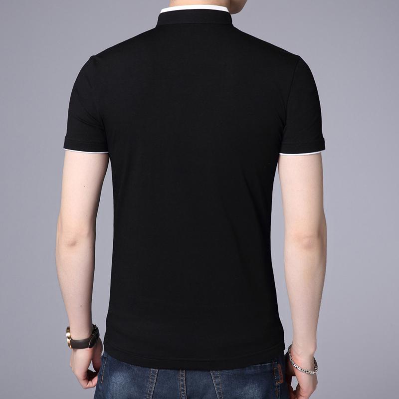 60abcd5f97046 Compre Liseaven Hombres Camiseta Con Cuello Mandarín Camiseta Básica ...