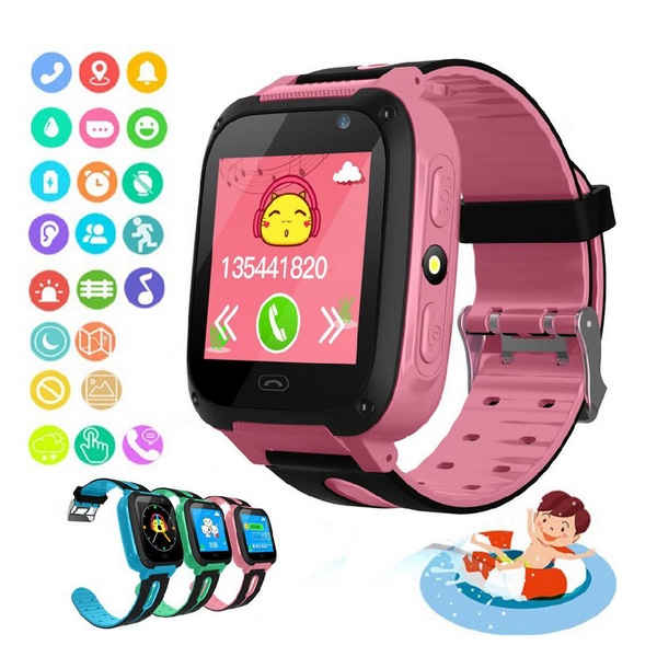 S4 Kids Smart Watches Android Watch Smart Smartwatch Phone Lbs/gps Sim Card Child Watch Sos Call Locator Camera Screen Watch