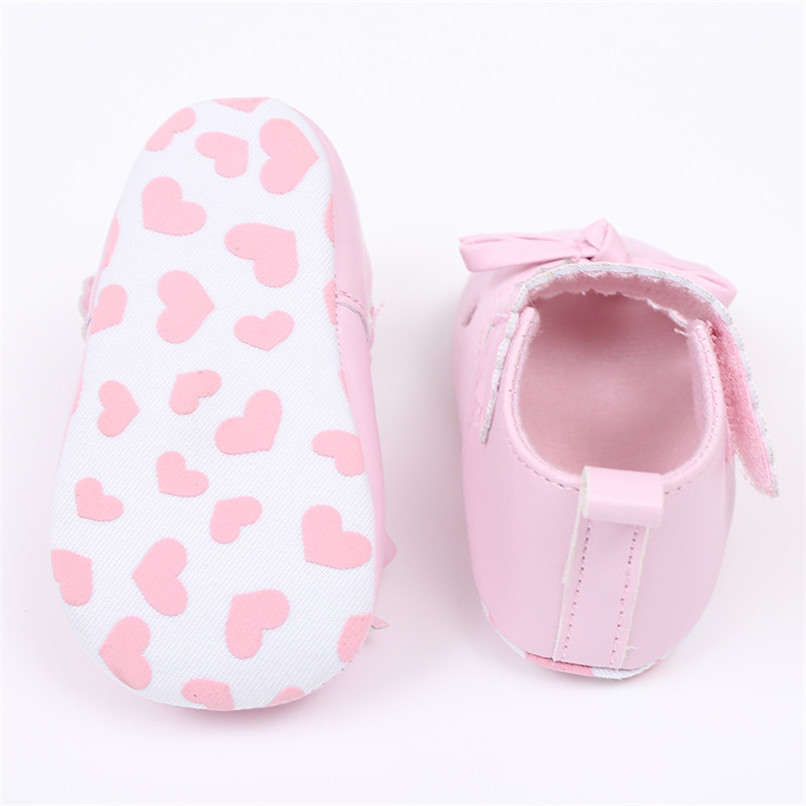 FashionNewborn Infant Baby Girls Crib Shoes Soft Sole Anti-slip Sneakers Bowknot Shoes NDA84L16 (7)