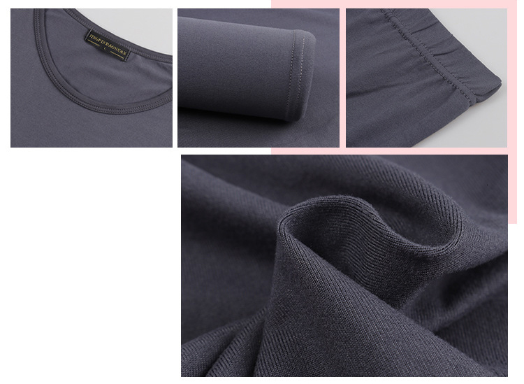 Queenral Long Johns For Male Female Warm Thermal Underwear Thermal Clothing Men Woman Winter Plus Size L - XXXL Thermal Suit 15