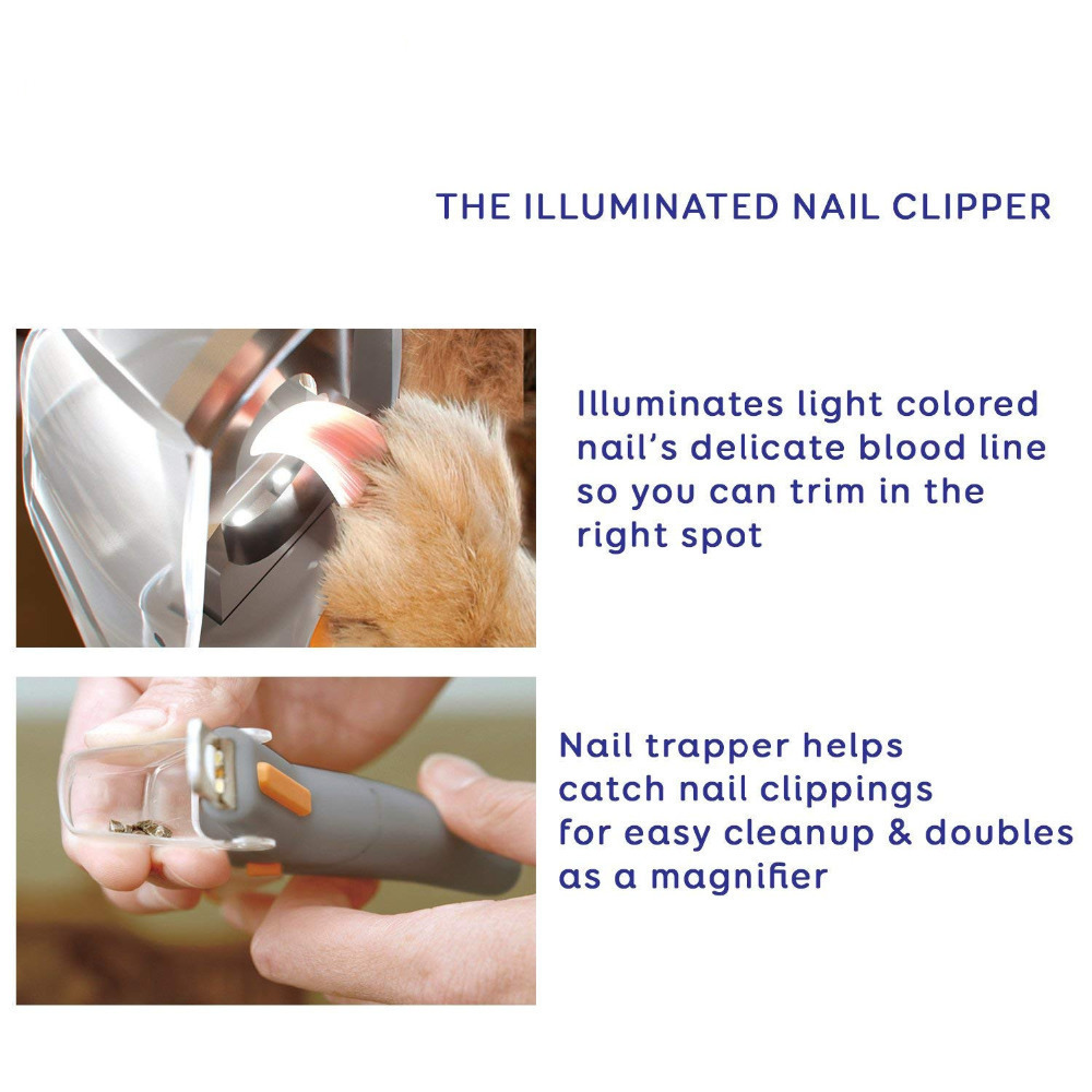 Professionals Pet Nail Clippers With LED Light&5X Magnifier For Dogs Cats Peticare Safety Dog Nail Trimmer Pet Claw Grinder 3