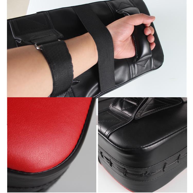 PU Leather Rectangle Kicking Strike Punching Pad Arm Shield Target for Focus Training of Karate Muay Thai Kick Boxing UFC MMA