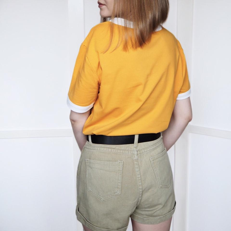 Nouveau T-shirt décontracté Bring On Lettre La Lettre Soleil Imprimer Haut-shirts O manches courtes femmes T-shirt