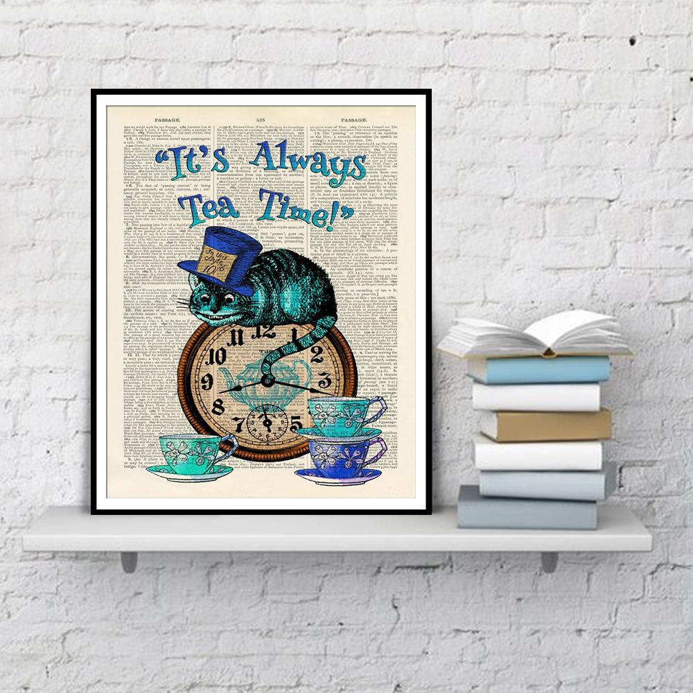 Alice Nos Pais Das Maravilhas Filme Online sua sempre uma hora dicionário art pintura alice no país das posters cat  wonderland decoração de casa e pintura prints canvas