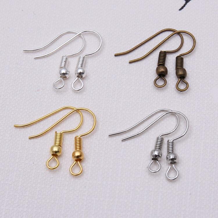 Wholesale 100x Antique Bronze Earring Fish Hook Ear Wire DIY Findings Making